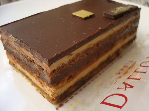 Opera Cake, via CakeSpy