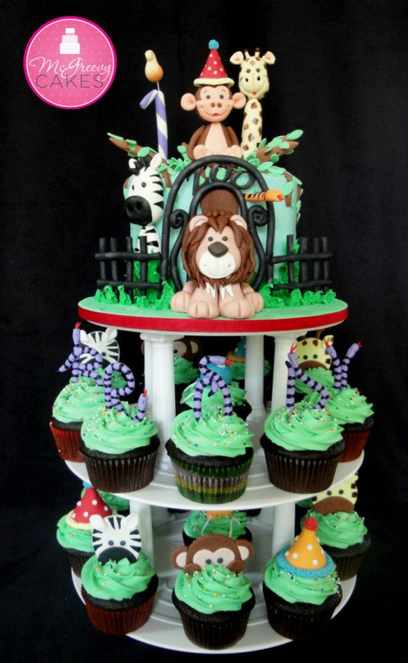 Zoo-Themed Cakes and Cupcakes