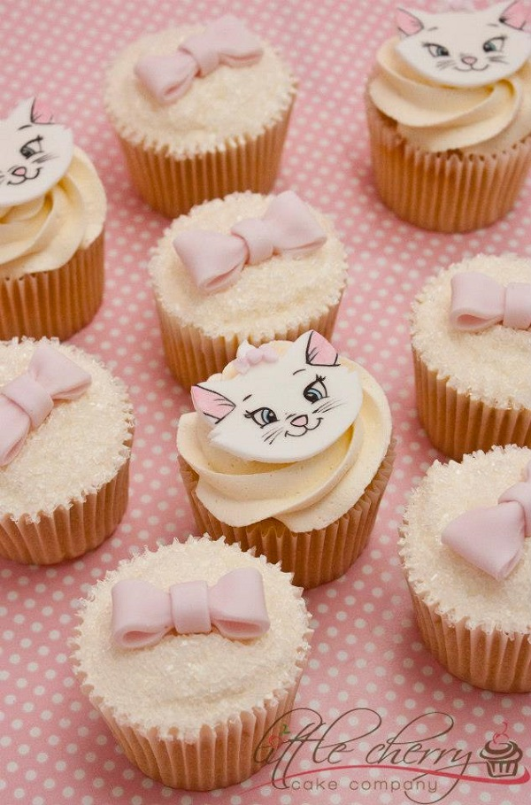 Pink Kitty Cupcakes