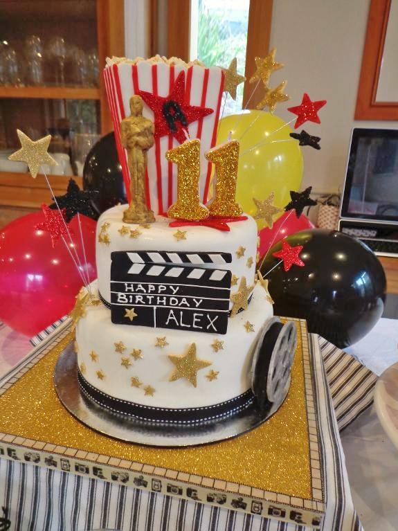 Bluprint Member Project: Oscar Party Birthday Cake
