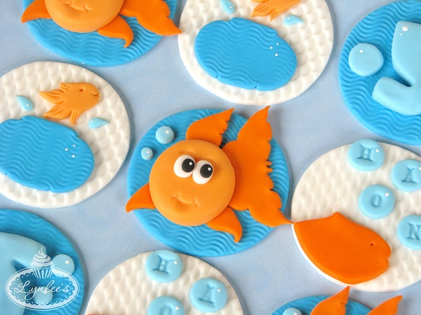 Goldfish Cake Toppers