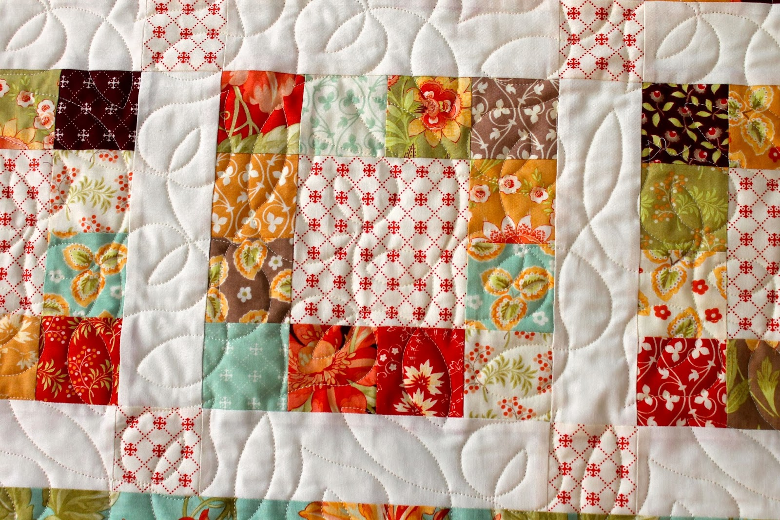 Trailing Vine Pattern on Quilt