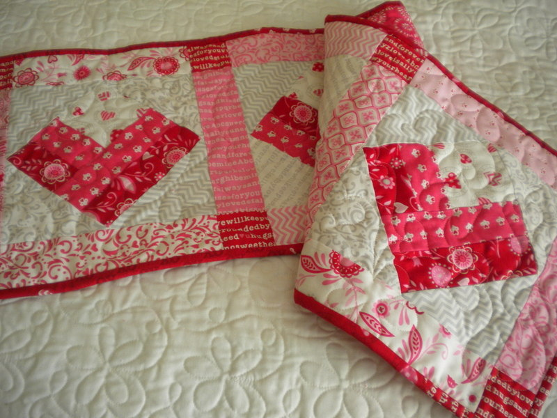 Heart Square-in-a-Square Runner, Pattern on Craftsy