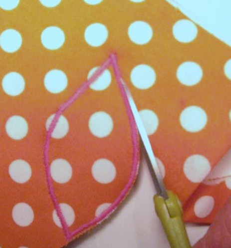 Cutting out the Appliqué Embellishment