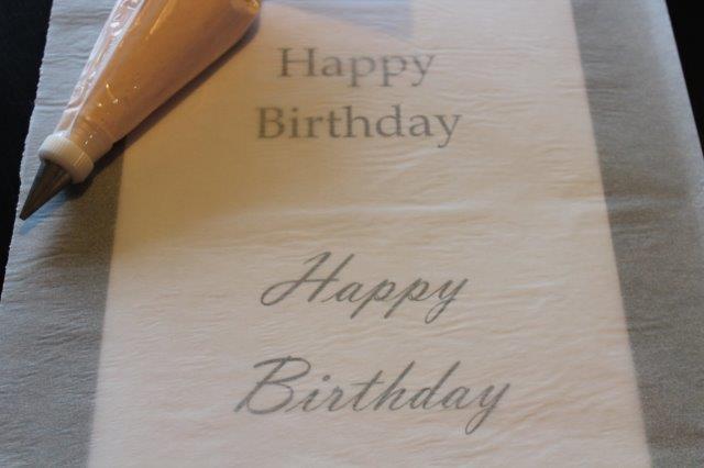 Lettering Under a Piece of Parchment Paper