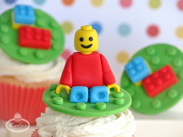 Completed Fondant Lego Cake Topper