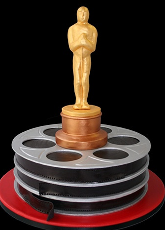 Golden Oscar Award Cake