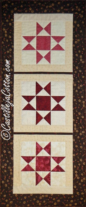 Ohio Star Quilted Table Runner - Bluprint.com Member Pattern
