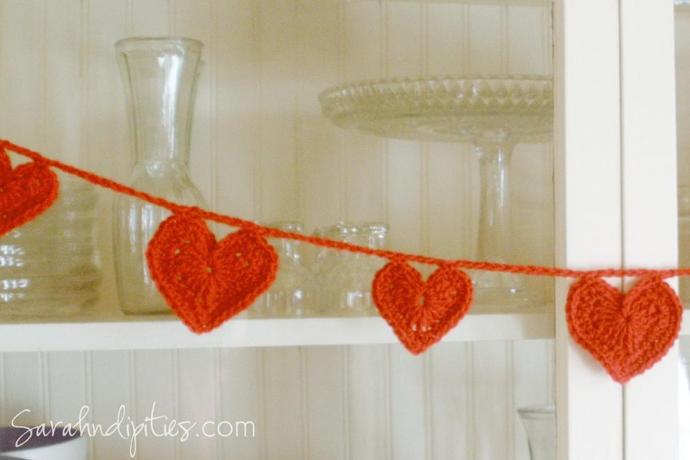 Crocheted Heart Garland - Get the Pattern on Bluprint