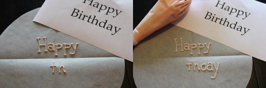 Cake Writing  - Practicing Styles
