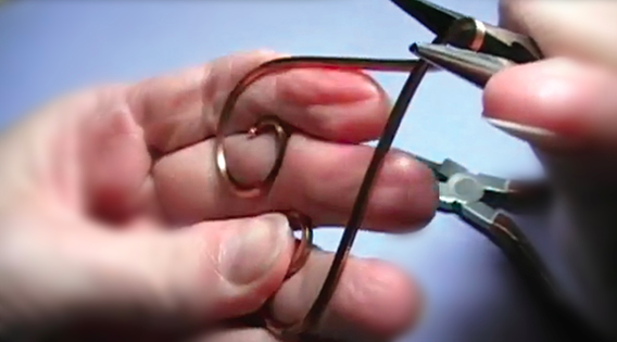 Folding the Wire with Pliers