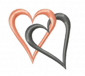 Free Machine Embroidery Pattern: Hearts