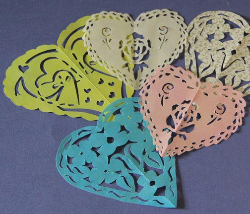 Free Paper Hearts Pattern