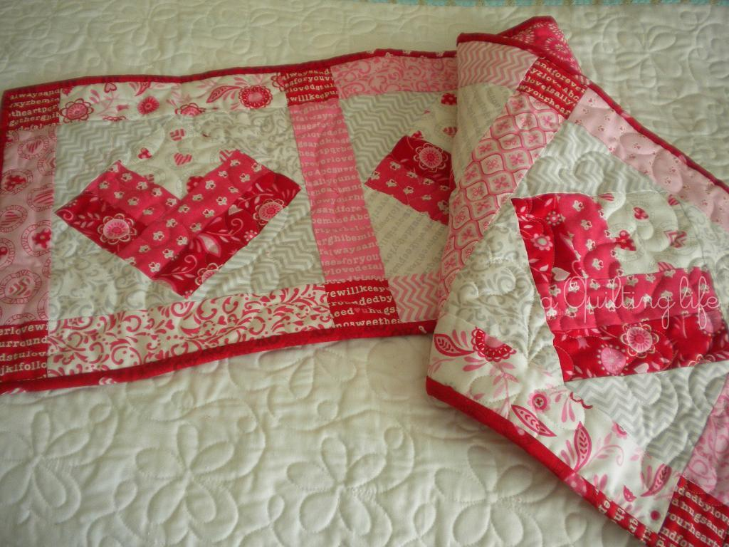 Heart Table Runner - Pattern Available on Craftsy