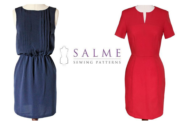 Salme Dresses - Patterns on www.craftsy.com