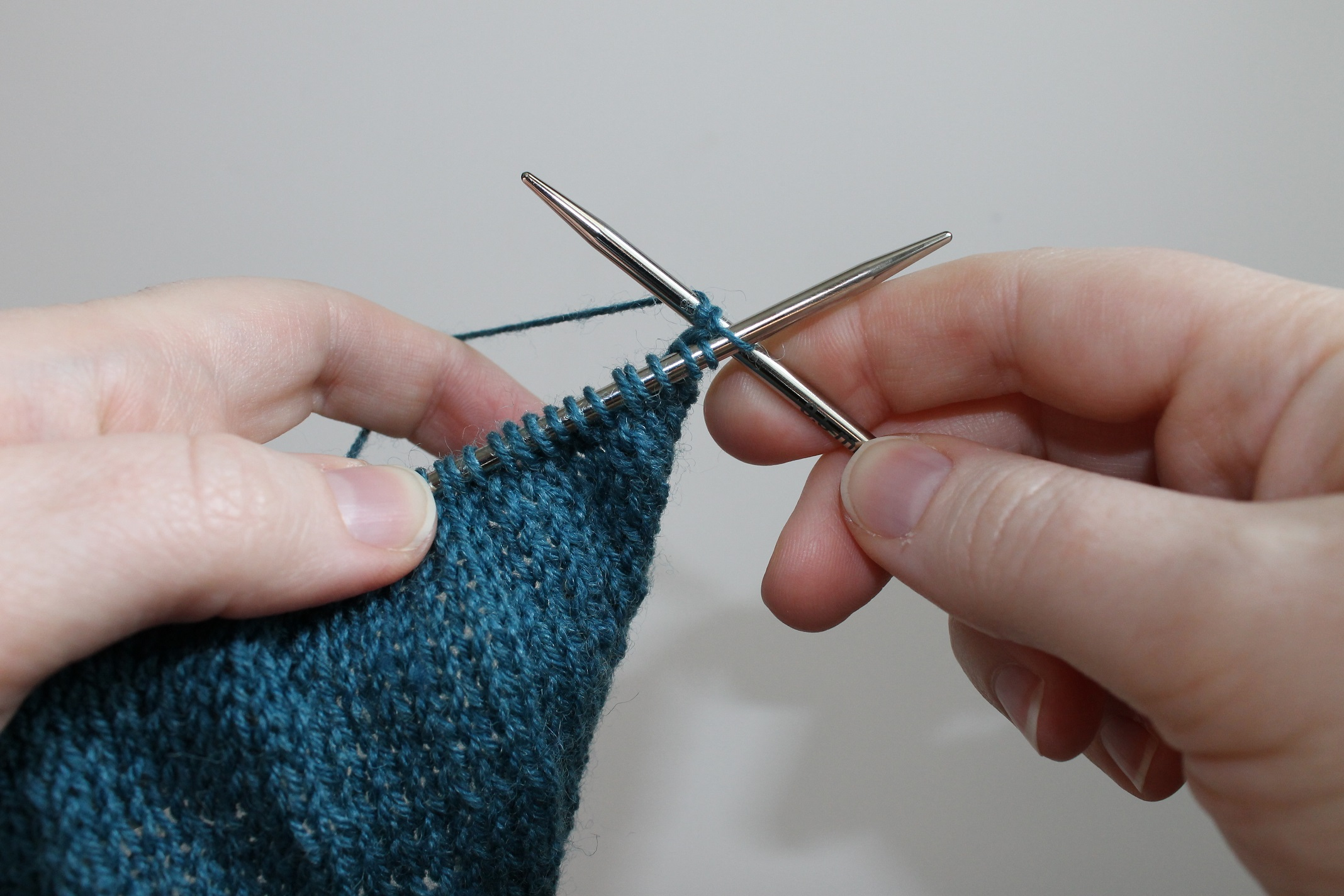 Continental Knitting Technique