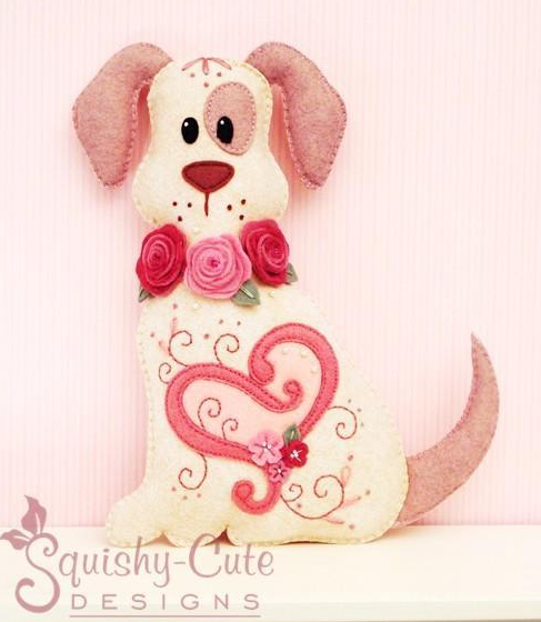 Valentines Day Dog - Sewing Pattern