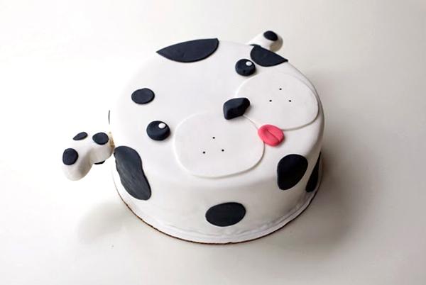 Dalmation Dog Cake