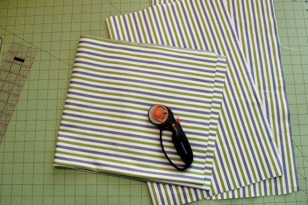 Cutting Fabric to Sew a Pillow