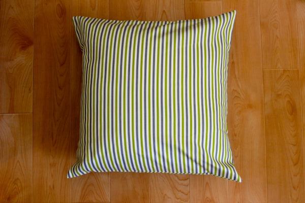 Sewn, Striped Pillow