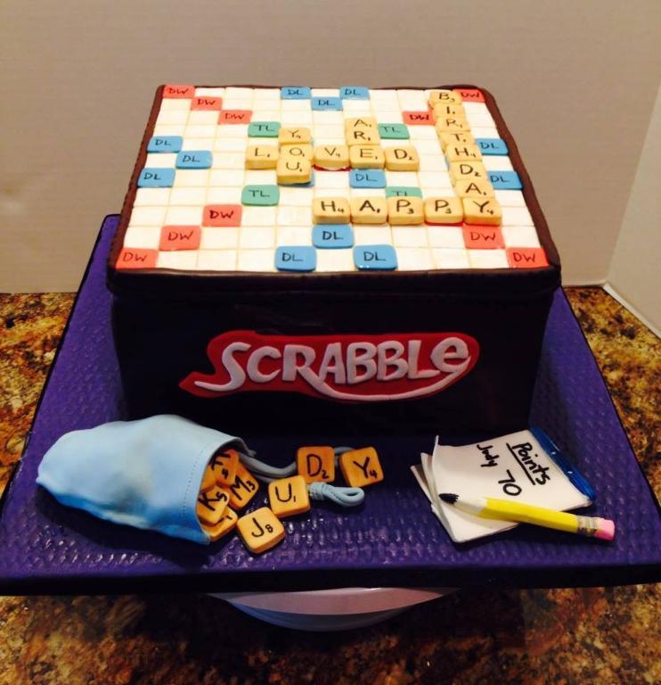 Scrabble Cake - www.craftsy.com Member Cake