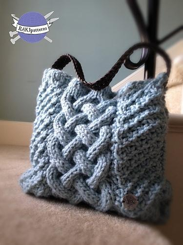 Margaret Cable Knit Tote Bag