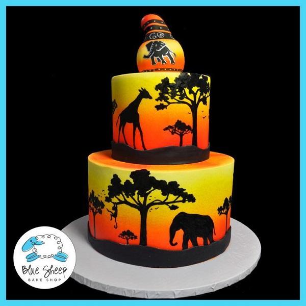 Vibrant Safari-Themed Cake, Bluprint Member Project