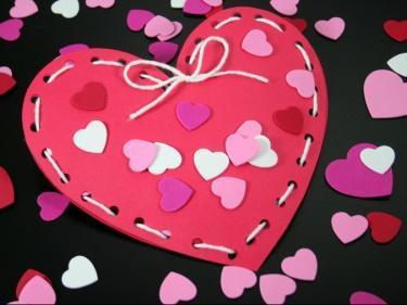 Cute Paper Heart Valentine - Papercraft Pattern on Bluprint