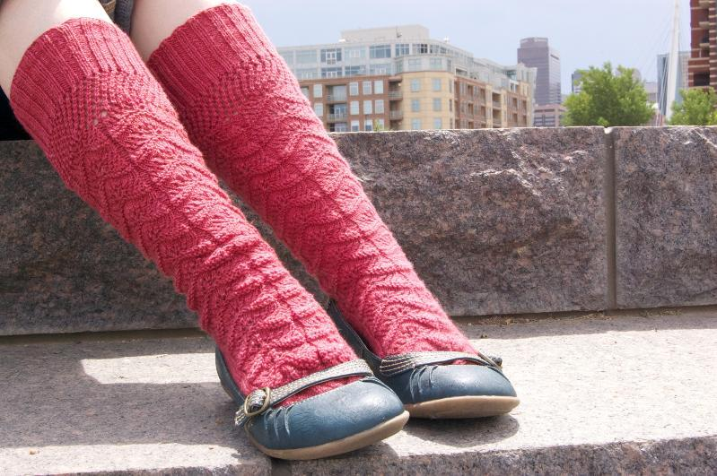 Ladies knitted lace knee socks