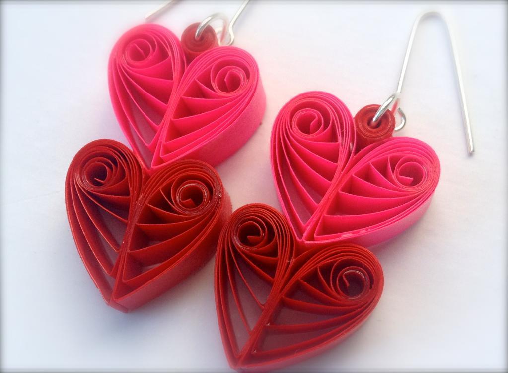 Paper Heart Earrings
