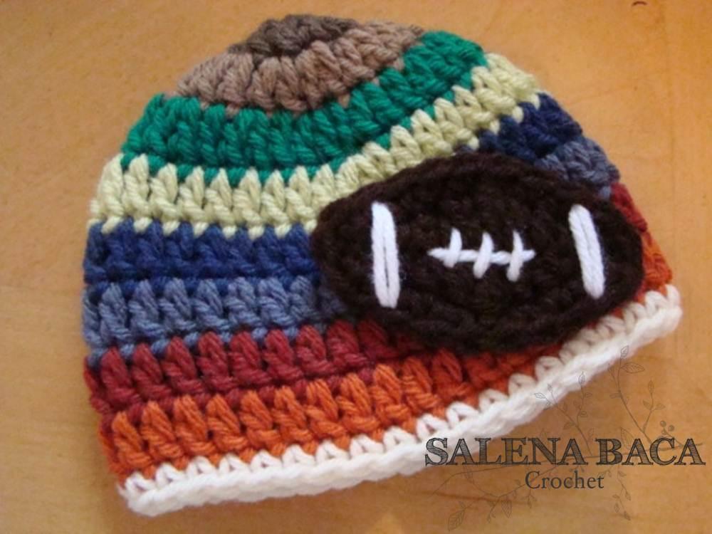 Football Hat - Free Crochet Pattern