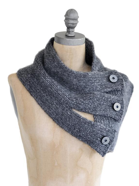Tri Button Knit Cowl