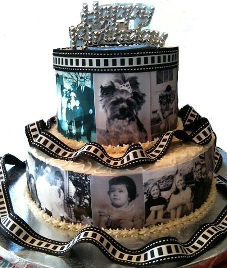 Black and White Film Cake - Bluprint Member Cake