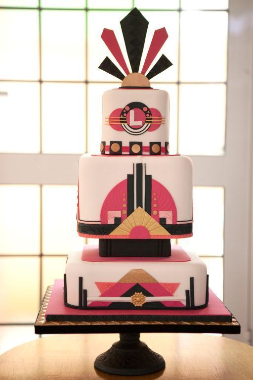 Tiered Art Nouveau Cake