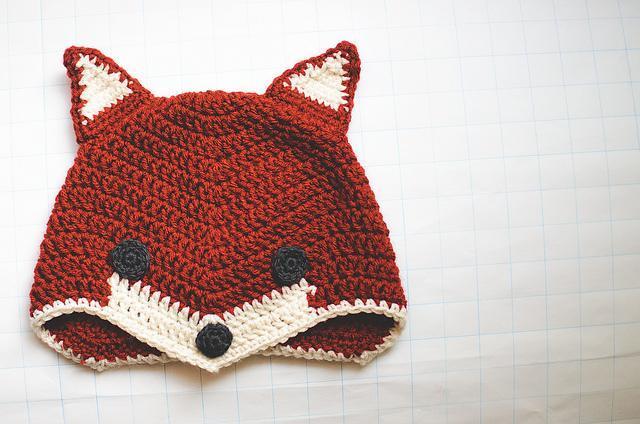 Crocheted Fox Hat - Pattern on Bluprint