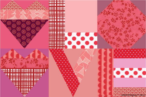Valentine's Love Quilt - Pattern for Free on Bluprint