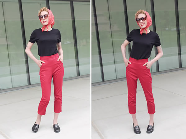 Red Vintage Pants, via Lucky Lucille