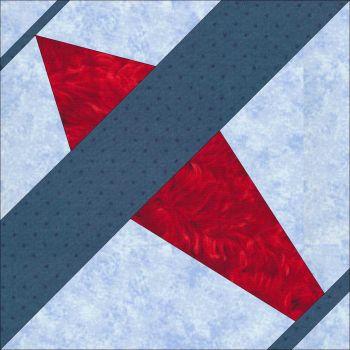 Embroiderd Quilt Block: Airplane Design