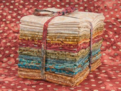 Stack of Tied Fat Quarter Fabric  - on Bluprint