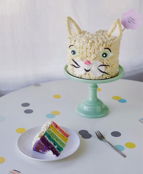 Rainbow Cat Cake Slice - Toddler Birthday Cakes on Bluprint