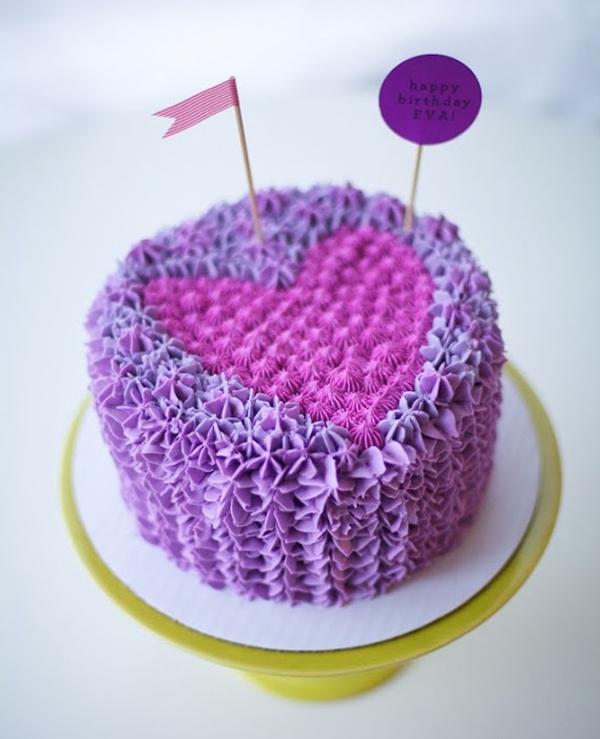 Purple Heart Cake - on Bluprint via Coco Cake Land