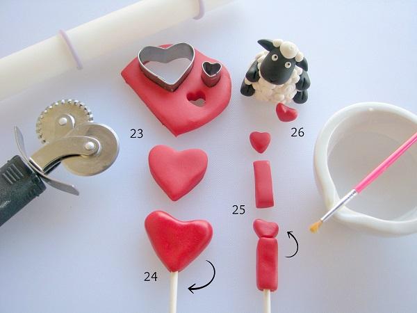 "Love Cupcake Tutorial: Making ""I"" and heart"