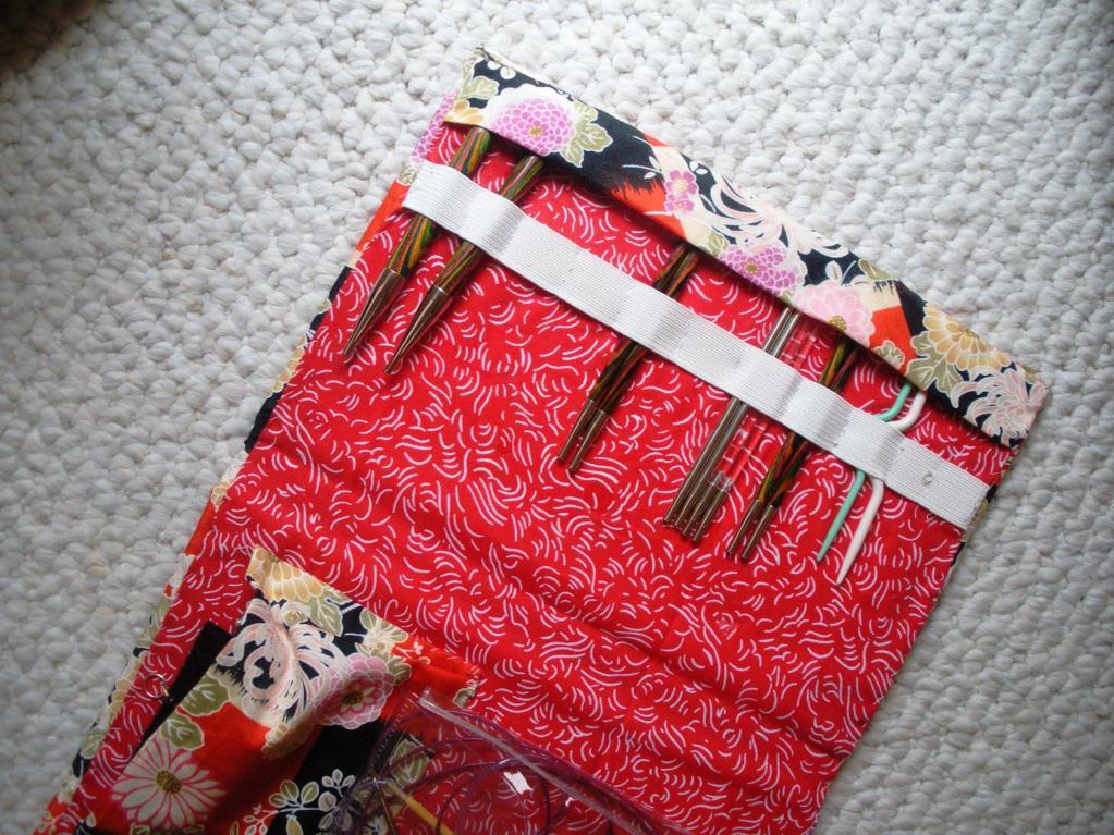 Upcycled book knitting needle storage