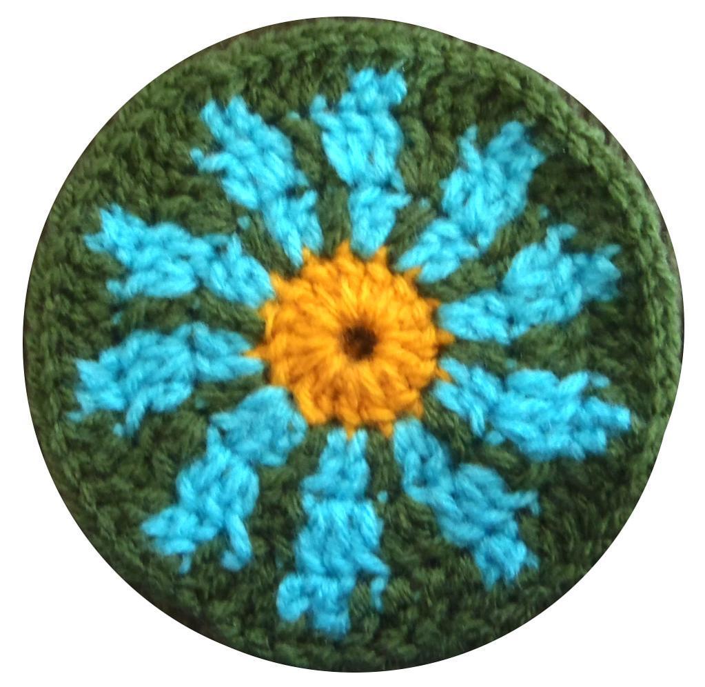 Circular crochet flower