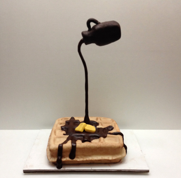 Gravity-Defying Waffle Cake
