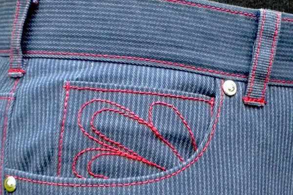 Seams on a Pair of Jeans - Bluprint