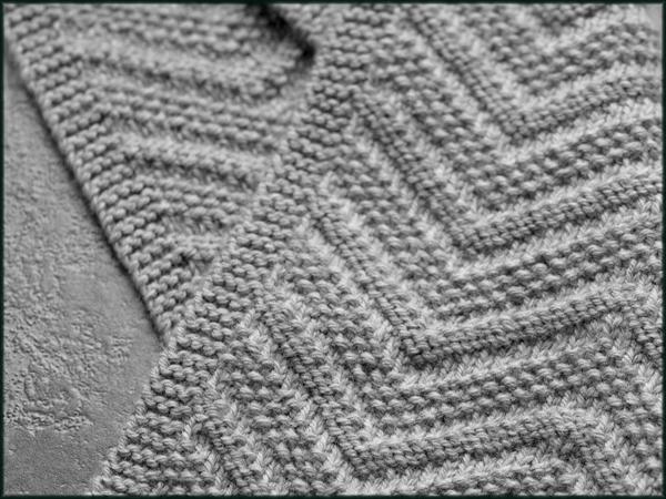 Knit Grey Scarf - Pattern on Craftsy