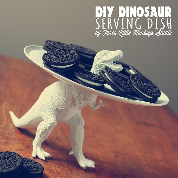 Dino Serving Tray with Cookies