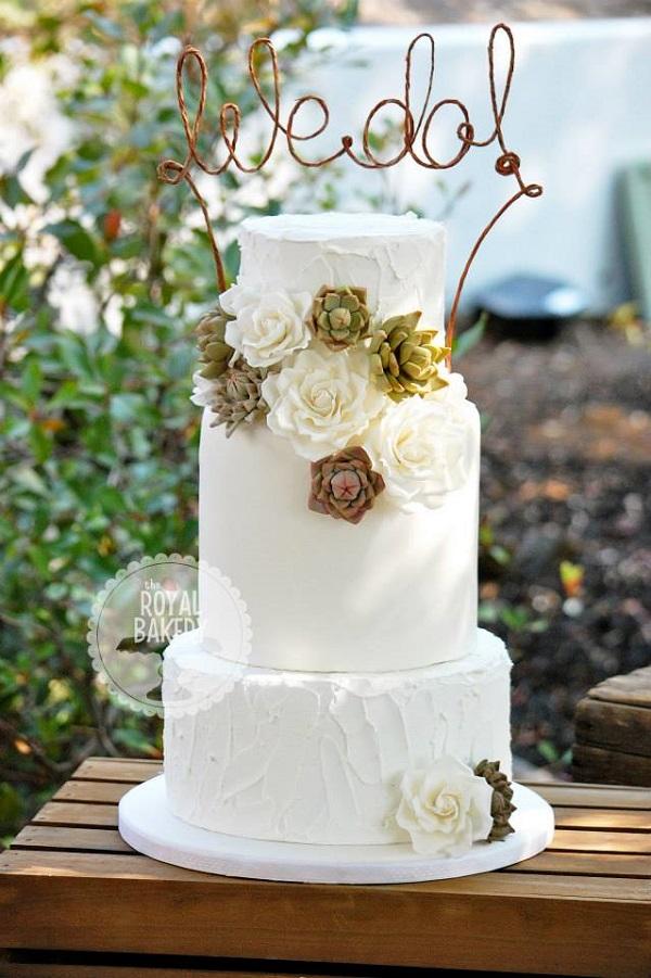 Chic Western Wedding Cake