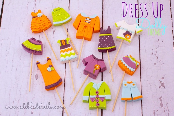 Dress Up Dolly Cupcake Toppers